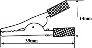 """8-0029 зажим """"крокодил"""" L-35 черный"""