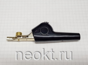 "JP-25182-J зажим ""крокодил"" ЧЁРНЫЙ"