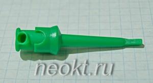 Наконечник для микросхем (клипса) зелёный
