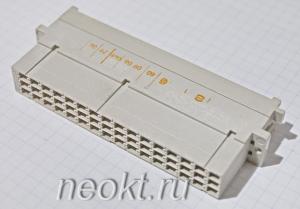 DIN 41612 Тип F Артикул:  09 06 048 2906 (F48MW-C1-1)
