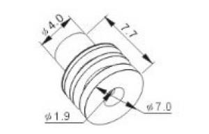 Резиновые фиксаторы для проводов к автомобильным разъемам TE178-014 (MFD015-2)
