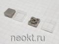 Колпачок квадратный  A-14-1 СЕРЫЙ С ПРОЗРАЧНОЙ КРЫШКОЙ (12*12mm)