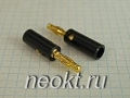 BP-214M (штекер BANANA черный/золотой) - 10-0015 GOLD