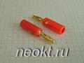 BP-214M (штекер BANANA красный/золотой) - 10-0015 GOLD
