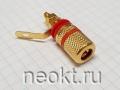 Клемма Acoustic BP-302 для громкоговорителя КРАСНАЯ (РАСПРОДАЖА)