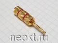 Клемма Acoustic BP-3340 GOLD КРАСНАЯ (РАСПРОДАЖА)