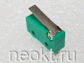DM1-1 зелёный (микропереключатель-пластина 18мм) 3A/250V