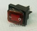 KCD4-25Т/4P красный влагозащищённый выключатель