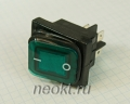 KCD4-25Т/4P зеленый влагозащищённый выключатель