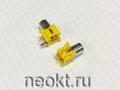 RCA-105A гнездо на плату жёлтое (2 контакта)