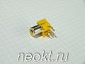 RCA-105С гнездо на плату жёлтое (3 контакта)