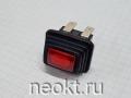 SC7097 кнопка без фиксации, красная  GERM (12V)