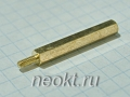 PCHSN2,5-30 mm М2,5, латунь, шестигр.стойка