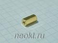 PCHSS2,5-09 mm М2,5, латунь, шестигр.стойка